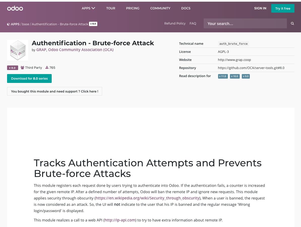 brute force attack module